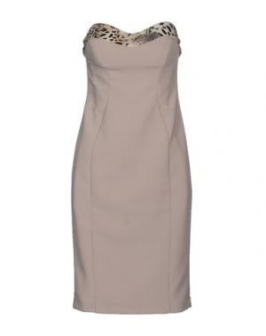 Короткое платье MRESALE. Цвет: бежевый