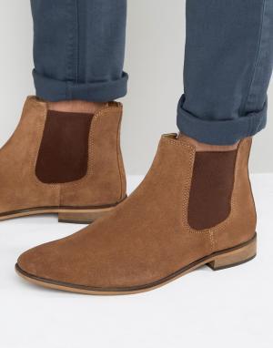 KG Kurt Geiger Светло-коричневые замшевые ботинки челси By. Цвет: рыжий