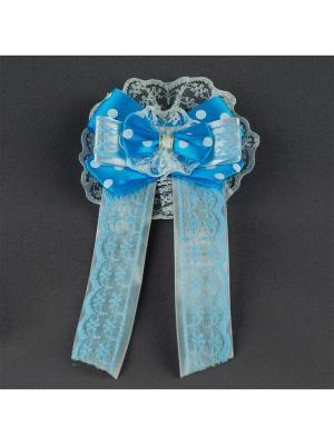 Брошь-галстук Венера Аккесорио - Мастер. Цвет: голубой
