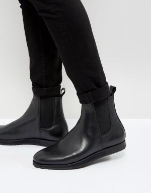 Zign Кожаные ботинки челси на танкетке. Цвет: черный