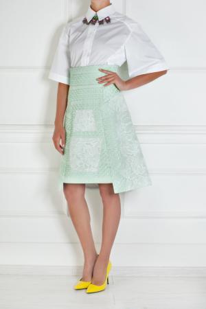 Шелковая юбка Peter Pilotto. Цвет: мятный