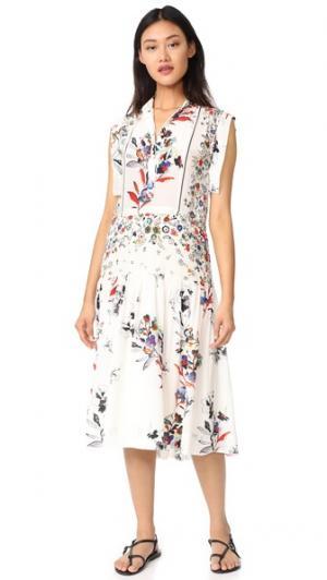 Платье Roque Warm. Цвет: слоновая кость с цветочным принтом