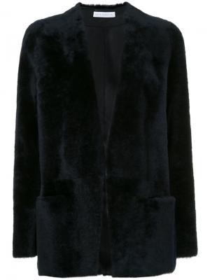 Открытый пиджак из овчины Inès & Maréchal. Цвет: чёрный