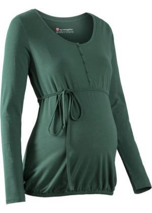 Мода для беременных: футболка с функцией кормления (зеленый) bonprix. Цвет: зеленый
