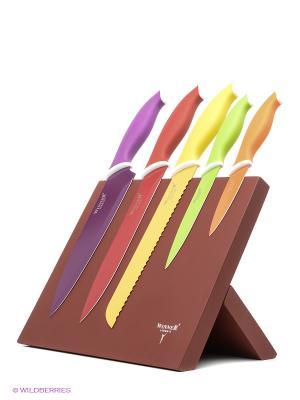 Комплект ножей Winner. Цвет: коричневый