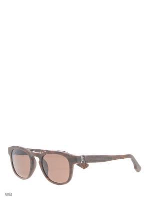 Солнцезащитные очки KT 500S 04 Kiton. Цвет: коричневый