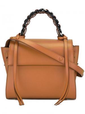 Маленькая сумка-тоут Angel Sensua Elena Ghisellini. Цвет: коричневый