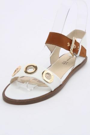Туфли открытые Keddo. Цвет: белый, рыжий