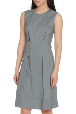 Полуприлегающее платье с круглым вырезом Marni. Цвет: серый