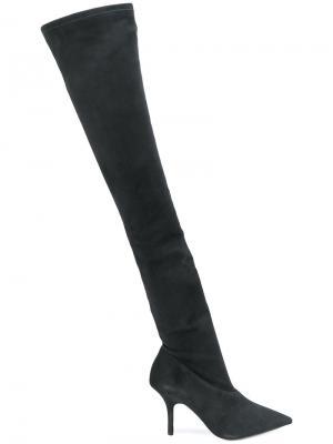 Ботфорты на каблуке Yeezy. Цвет: чёрный