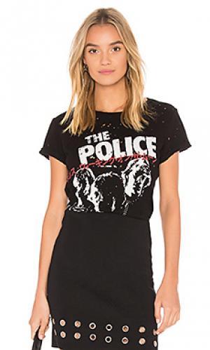 Классическая футболка bess police Lauren Moshi. Цвет: черный