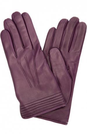 Кожаные перчатки с подкладкой из кашемира Sermoneta Gloves. Цвет: темно-фиолетовый