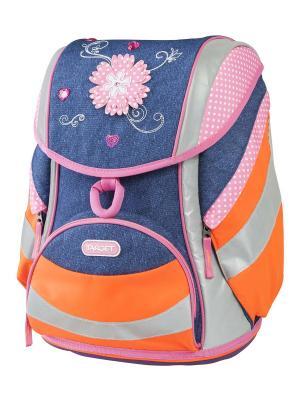 Ранец Джинсовые цветы Target. Цвет: синий, оранжевый, розовый