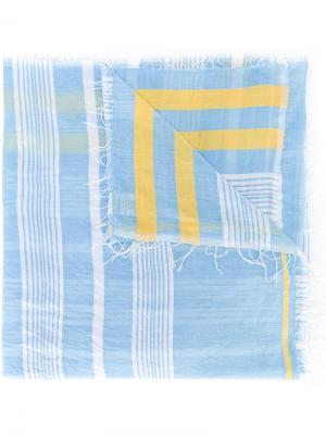 Полосатый шарф Lemlem. Цвет: синий