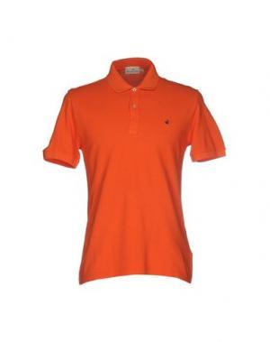 Поло BROOKSFIELD. Цвет: оранжевый