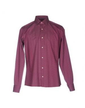 Pубашка HERMAN & SONS. Цвет: красно-коричневый