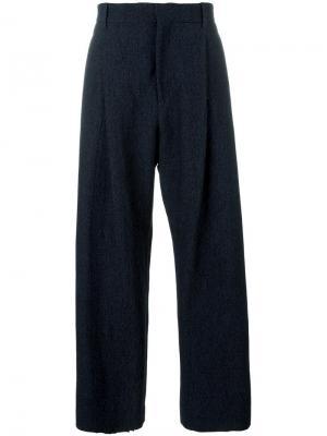Широкие брюки Qasimi. Цвет: синий