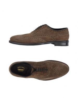 Обувь на шнурках BRUNO VERRI. Цвет: хаки