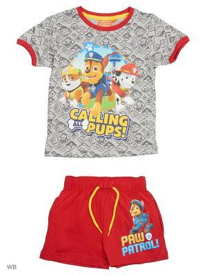 Комплект футболка, шорты Sun City. Цвет: красный