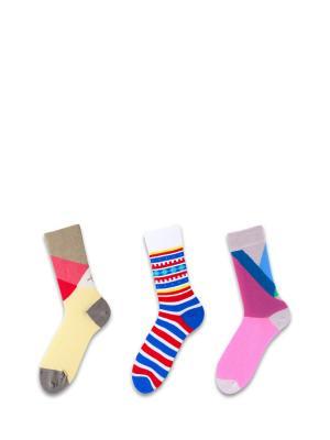 Носки, 3 пары Sammy Icon. Цвет: синий, красный, белый
