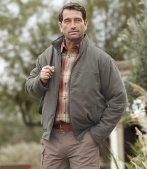 Куртка из Искусственной Замши AFM. Цвет: серо-коричневыи