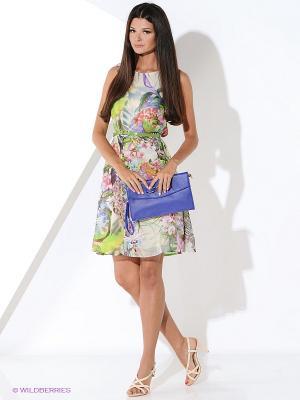 Платье Malvin. Цвет: салатовый, молочный, голубой