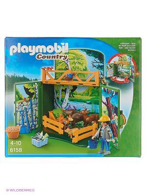 Возьми с собой: Лесные животные Playmobil. Цвет: зеленый