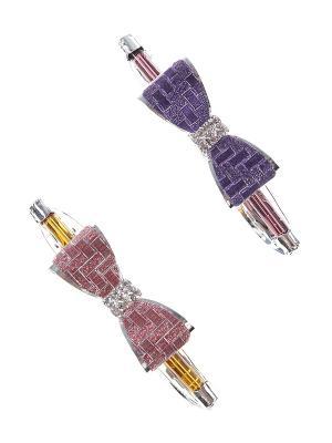 Заколка-автомат (комплект - 2 шт.) Infiniti. Цвет: фиолетовый, коричневый