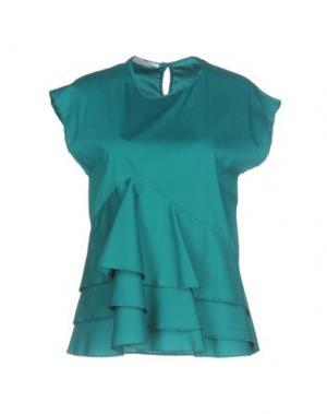 Блузка BIANCOGHIACCIO. Цвет: изумрудно-зеленый
