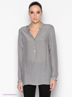 Блузка MILANO ITALY. Цвет: темно-серый