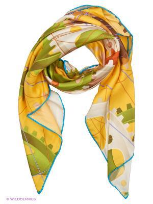 Платок Moltini. Цвет: желтый, зеленый, молочный