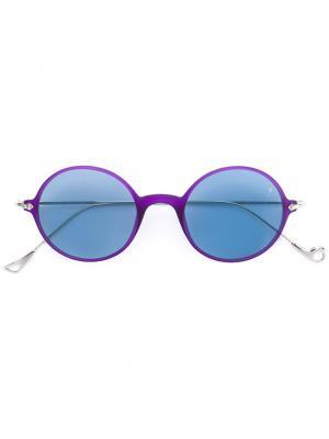 Солнцезащитные очки в круглой оправе Eyepetizer. Цвет: розовый и фиолетовый