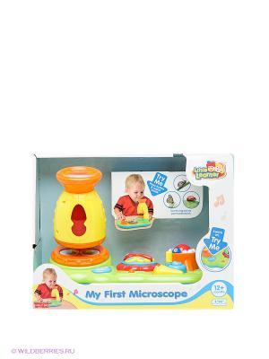 Игрушка Мой первый микроскоп Hap-P-Kid. Цвет: зеленый, оранжевый, желтый
