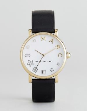 Marc Jacobs Часы с черным кожаным ремешком Classic MJ1599. Цвет: черный