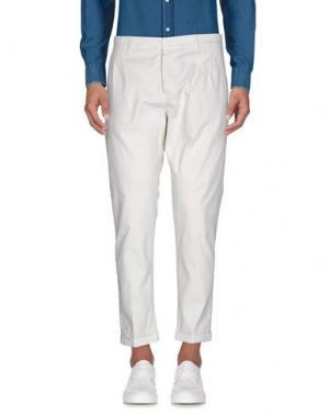 Повседневные брюки EXIBIT. Цвет: белый
