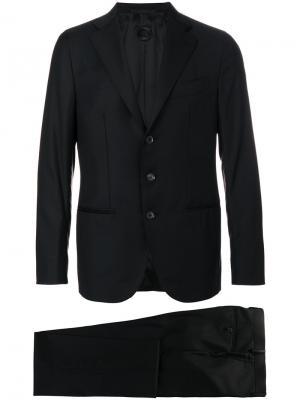 Классический костюм-двойка Caruso. Цвет: чёрный