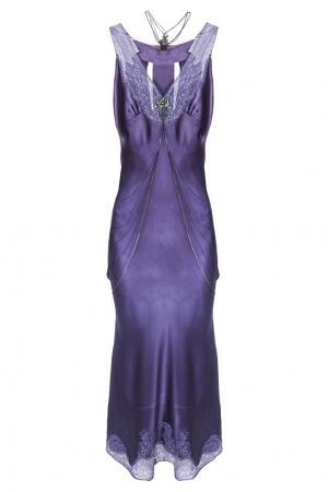 Шелковое платье Erickson Beamon. Цвет: фиолетовый