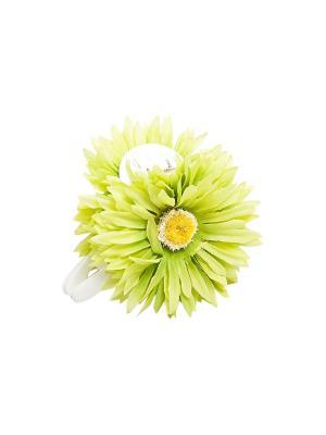 Заколка-краб Kameo-bis. Цвет: зеленый, желтый, белый