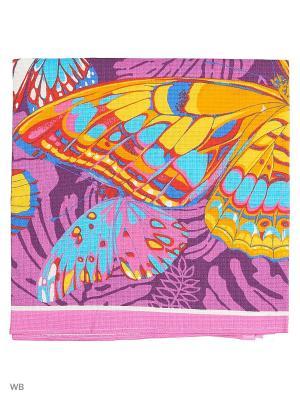 Полотенце вафельное банное Римейн. Цвет: фиолетовый