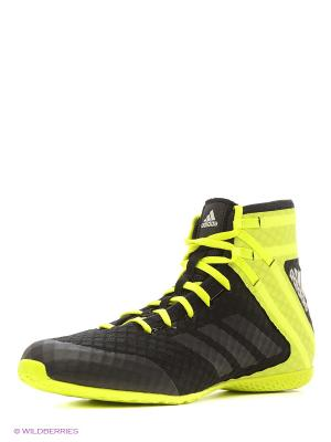 Боксерки Speedex 16.1 Adidas. Цвет: черный, желтый