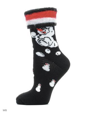 Новогодние носки HOSIERY. Цвет: черный, белый