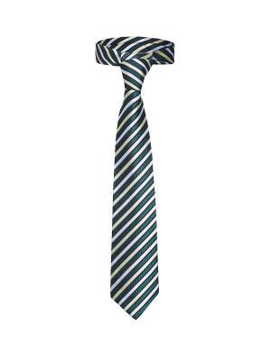 Классический галстук Каникулы в Риме диагональную полоску Signature A.P.. Цвет: зеленый, белый, желтый