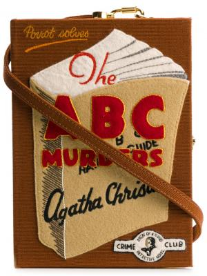 Клатч  ABC Murders Olympia Le-Tan. Цвет: коричневый