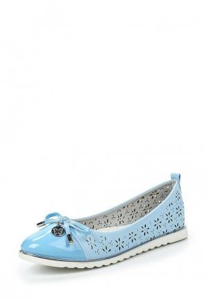 Балетки Shuzzi. Цвет: голубой