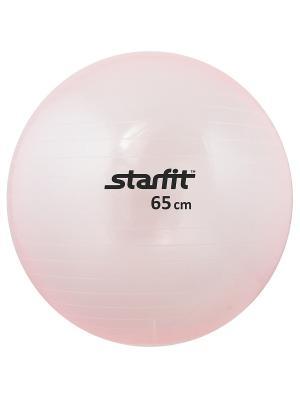 Мяч гимнастический STARFIT GB-105 65 см, прозрачный, розовый. Цвет: розовый
