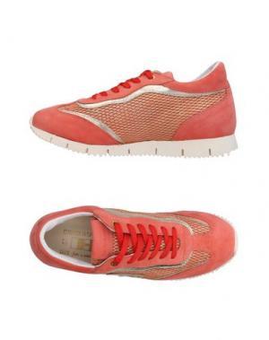 Низкие кеды и кроссовки D'ACQUASPARTA. Цвет: коралловый