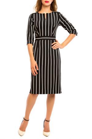 Платье MoNaMod. Цвет: черно-белый