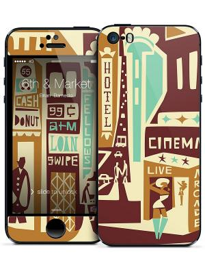 Наклейка для iPhone 5 6th & Market-Brian Barneclo Gelaskins. Цвет: белый, коричневый