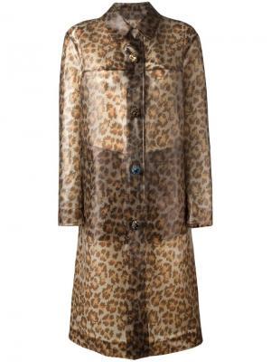 Дождевик с леопардовым принтом Christopher Kane. Цвет: коричневый