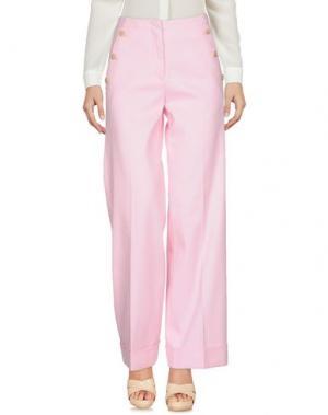 Повседневные брюки STEFANEL. Цвет: розовый
